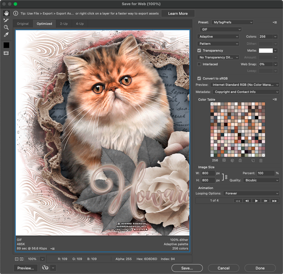 This is a tutorial re-write. As you can see from the date of the post, it is older, but still very much relevant!  Learn how to use the liquify filter to create animations!